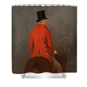 Portrait Of Thomas Cholmondeley - 1st Lord Delamare On His Hunter  Shower Curtain