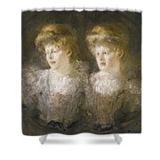 Portrait Of Two Ladies Shower Curtain