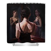 Portrait Of Two Souls Shower Curtain