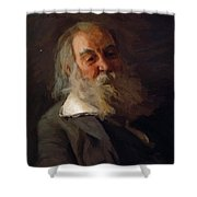 Portrait Of Walt Whitman 1887 Shower Curtain