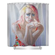Portrait Of Young Lady Shower Curtain