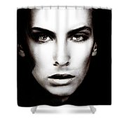Portrait Of Young Man Shower Curtain