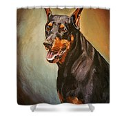 Portrait Of Zeus Shower Curtain