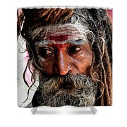 Portrait On The Ganges Shower Curtain