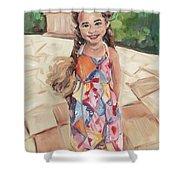 Portrait Painting Shower Curtain
