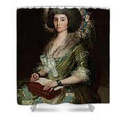 Portrait Senior Sean Bermudes Portrait Of Maria De Borbon Luisy Shower Curtain