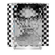Portrait Visually Unstable Shower Curtain
