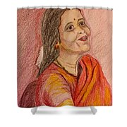 Portrait With Colorpencils Shower Curtain