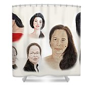 Portraits Of Lovely Asian Women II Shower Curtain