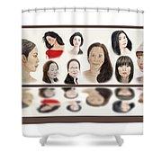 Portraits Of Lovely Asian Women  Shower Curtain