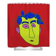 Portrait 01 Shower Curtain