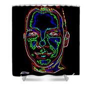 Portrait 09 On Black Shower Curtain