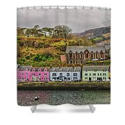 Portree Harbour Shower Curtain