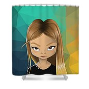 Portret Shower Curtain