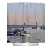 Ports Of Camden And Philadelphia Shower Curtain