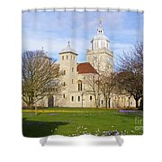Portsmouth Cathedral In Springtime Shower Curtain