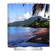 Portsmouth Shore On Dominica Filtered Shower Curtain