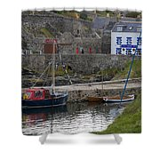 Portsoy Harbour Shower Curtain
