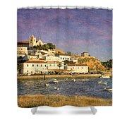 Portugal, Ferragudo Village  Shower Curtain