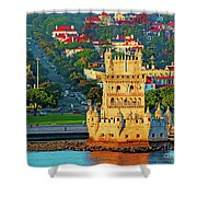 Lisbon Belem Tower From The River Shower Curtain