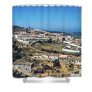 Portugese Hillside Village Shower Curtain
