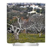 Portuguese Almond Plantation Shower Curtain