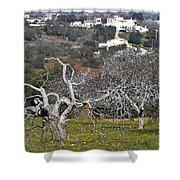 Portuguese Almond Plantation Shower Curtain