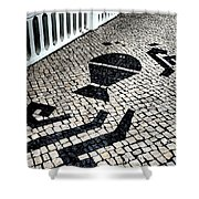 Portuguese Cobblestone Shower Curtain