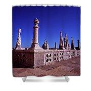 Portuguese Fortress  Lisbon Portugal Shower Curtain