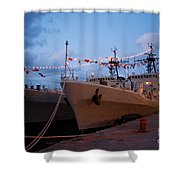 Portuguese Frigates Shower Curtain