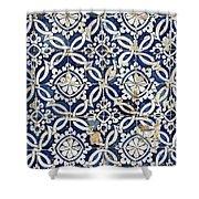 Portuguese Glazed Tiles Shower Curtain