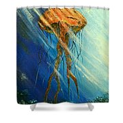 Portuguese Man Of War Shower Curtain