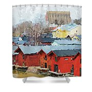 Porvoo Town Shower Curtain
