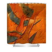 Pose - Tile Shower Curtain
