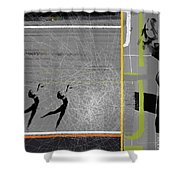 Pose And Jump Shower Curtain