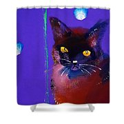 Posh Tom Cat Shower Curtain