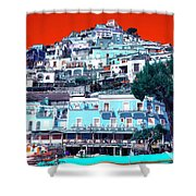 Positano Pop Art Shower Curtain
