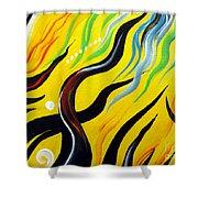 Positive Energy. Abstract Art Shower Curtain
