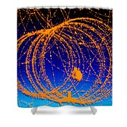 Positron Track Shower Curtain
