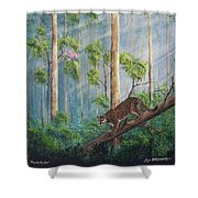 Possible Panther Shower Curtain