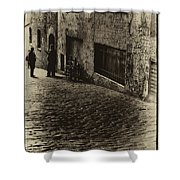 Post Alley - West Wall Shower Curtain