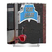 Post Alley 3 Shower Curtain