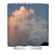 Post Card Clouds Shower Curtain