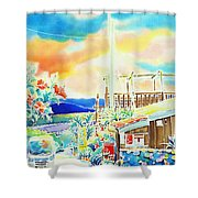 Post Office In The Island Shower Curtain