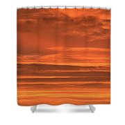 Post Sunset Clouds Shower Curtain
