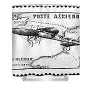 Postage Stamp: Bleriot Shower Curtain