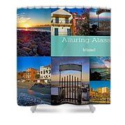 Postcard From Alassio Shower Curtain