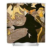 Poster Advertising Le Divan Japonais Shower Curtain by Henri de Toulouse Lautrec