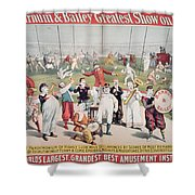 Poster Advertising The Barnum And Bailey Greatest Show On Earth Shower Curtain
