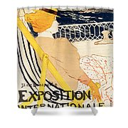 Poster Advertising The Exposition Internationale Daffiches Paris Shower Curtain
